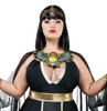 S9025X, Plus Size Egyption Queen Costumes by Starline close up view