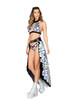 R-3871, METALLIC SPOTTED FLARE SKIRT Full View by Roma Costume