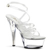 Clear Pleaser Shoes | KISS-206, Strappy Platform Shoes