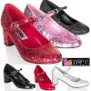 Funtasma | Cosplay SCHOOLGIRL-50G, Glitters Costume Shoes