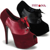 TEEZE-16, 5.75 Inch Stiletto High Heel Peep Toe Oxford