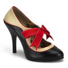 Bordello | Tempt-27, Two Tone Pump with Bow