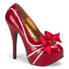 Red Teeze-14, 5, Platform Pump | Bordello Shoes