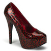 Bordello | Teeze-37, Cheetah Red Glitter Print Pump