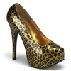 Bordello | Teeze-37, Cheetah Gold Glitter Print Pump