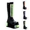 Techno-854uv, Cyber Goth Boots With UV Panels Demonia | Men