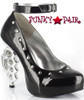 550-Bullet, 5 Inch High Heel Brass Knuckles with Studs Mary Jane Made by ELLIE Shoes