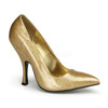 Gold Bombshell-01G, 4.5 Inch High Heel Classic Pump | Pin-Up Couture