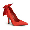Red Pin-Up Couture | Bombshell-03, Heel Pump with Bow in Back