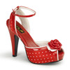 Bettie-06, Peep Toe Ankle Strap Sandal Pin-Up Couture Shoes