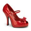 Red Cutiepie-08, Platform Peep Toe Mary Jane | Pin-Up Couture