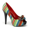 Lolita-12, Multi Color Peep Toe Pump