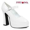 Ellie Shoes 557-Eden, Mary Jane Shoe color white