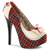 Teeze-26, Pump with Plaid | Bordello Shoes