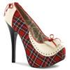 Teeze-26, Pump with Plaid | Bordello Shoes