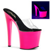Exotic Dancer Shoes | Taboo-701UV, Platform Slide with UV Bottom