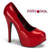 Women's Red Wide Width Pump | Pink Label Teeze-06W