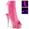 Delight-1018G, 6 inch stiletto heel with 1.75 inch platform * Made by PLEASER Shoes pink
