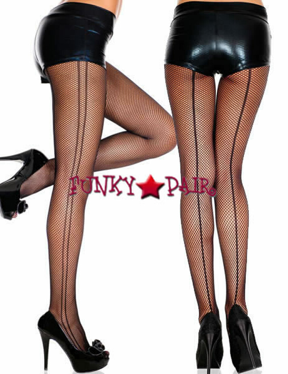 New Music Legs 90014 Glittery Fishnet Pantyhose