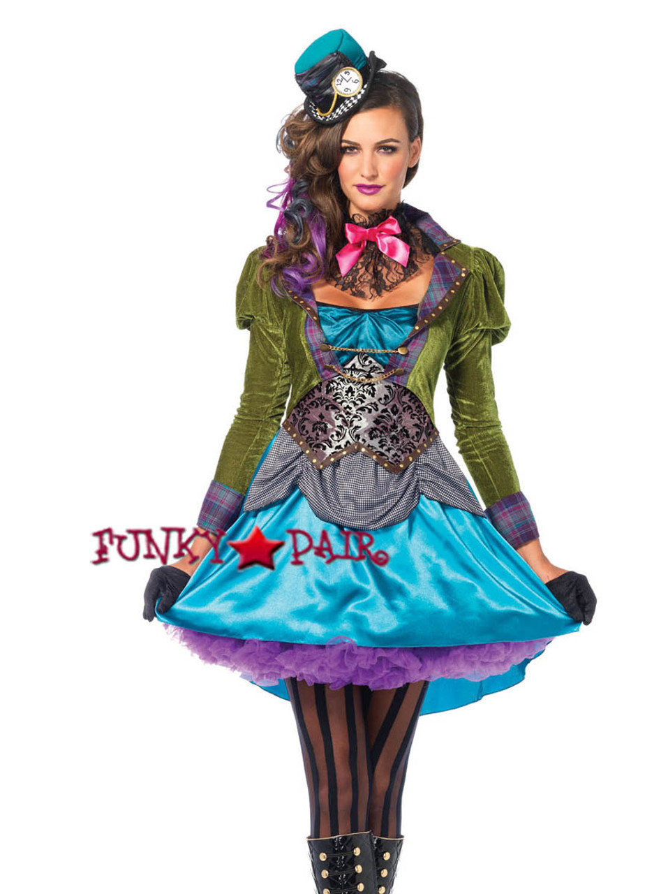 3PC Deluxe Mad Hatter Costume