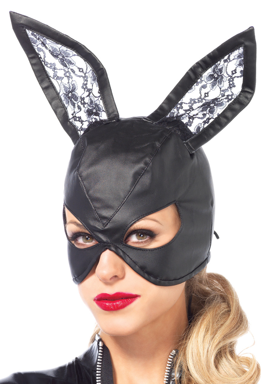 ... LA3745, Bunny Mask with Lace Ears