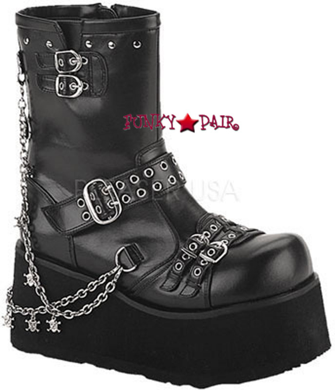 Goth Platform Boots with Chain