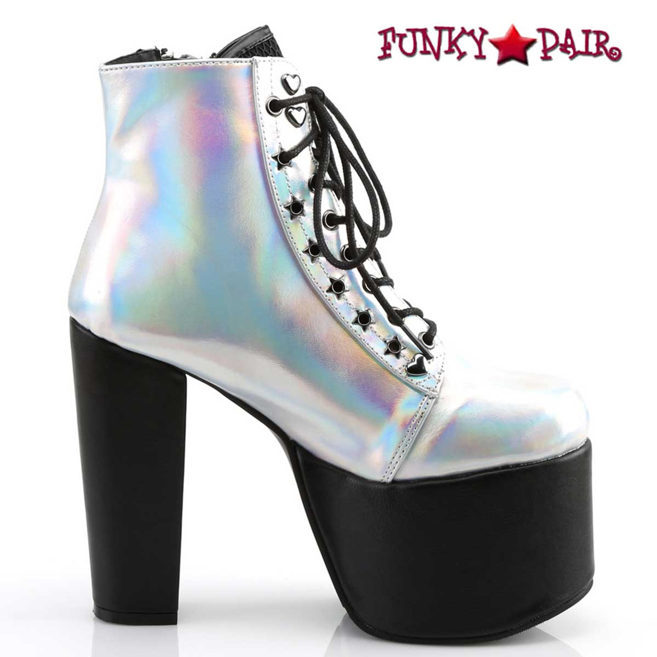 Wing High Heels Wedges Platforms Rock Funky Ankle Boots