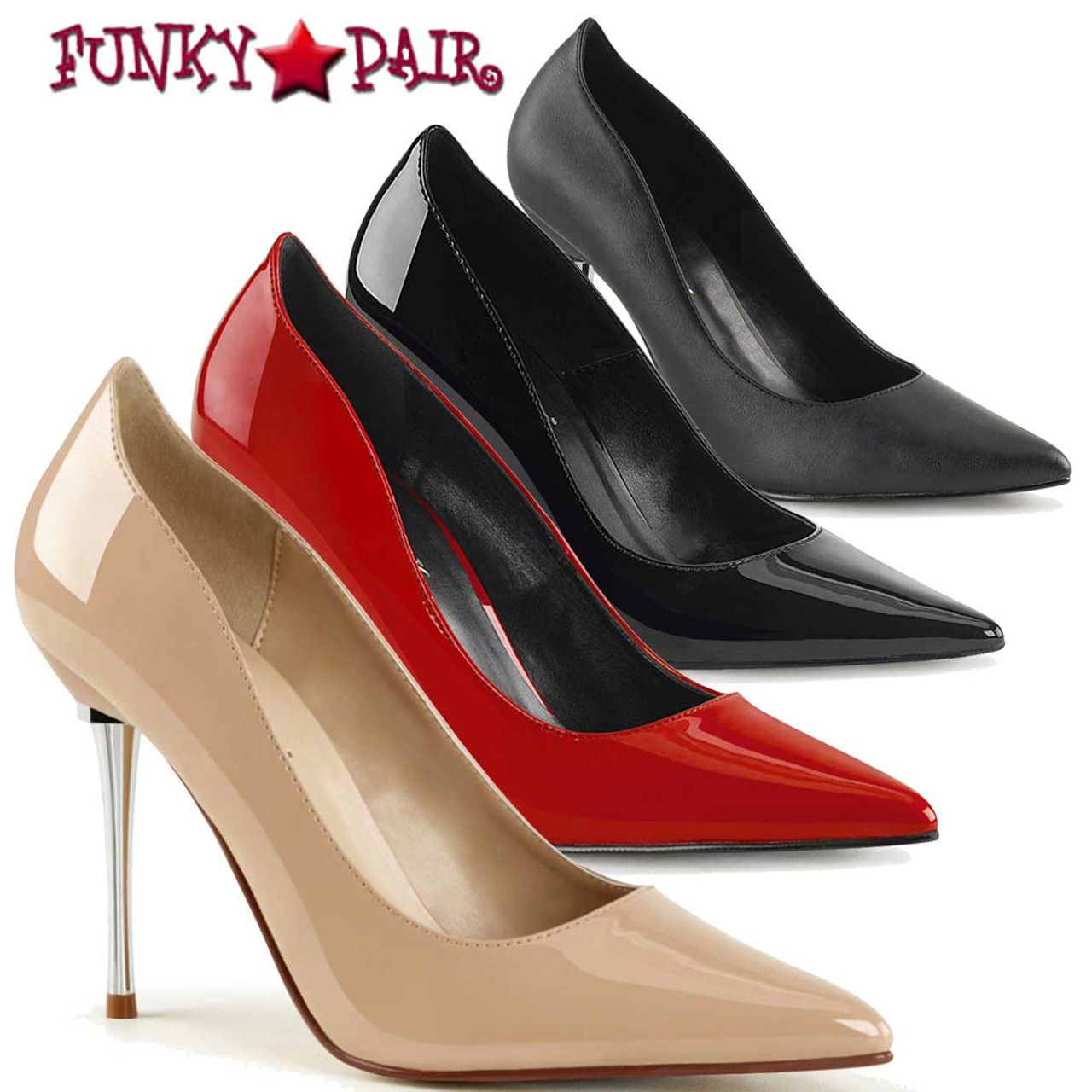 PinUp Couture High Heels schwarz Peep Toe Pumps Lolita-10