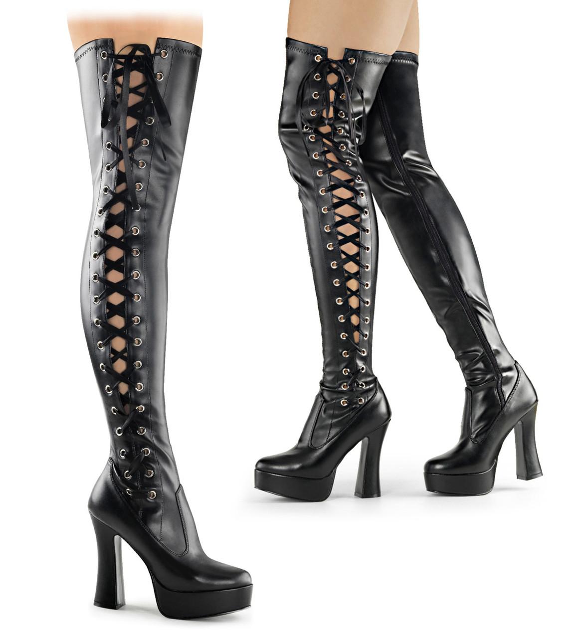 5 Inch Platform Thigh High Boots