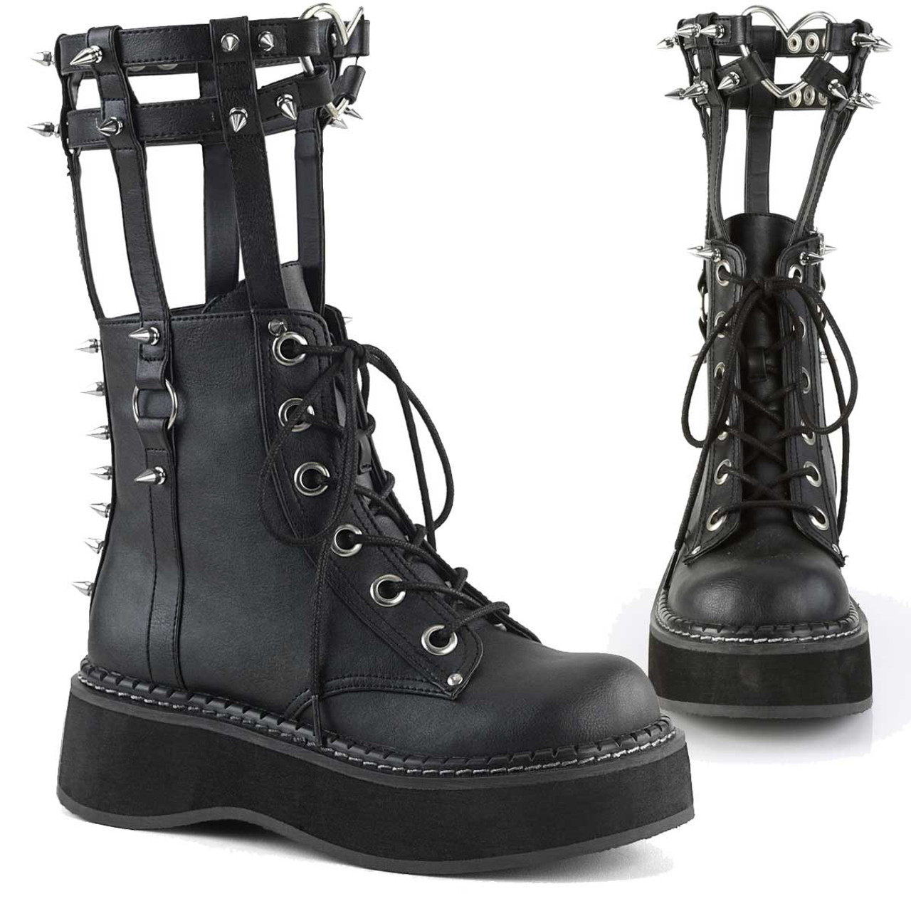 Cage Style Goth Platform Boots