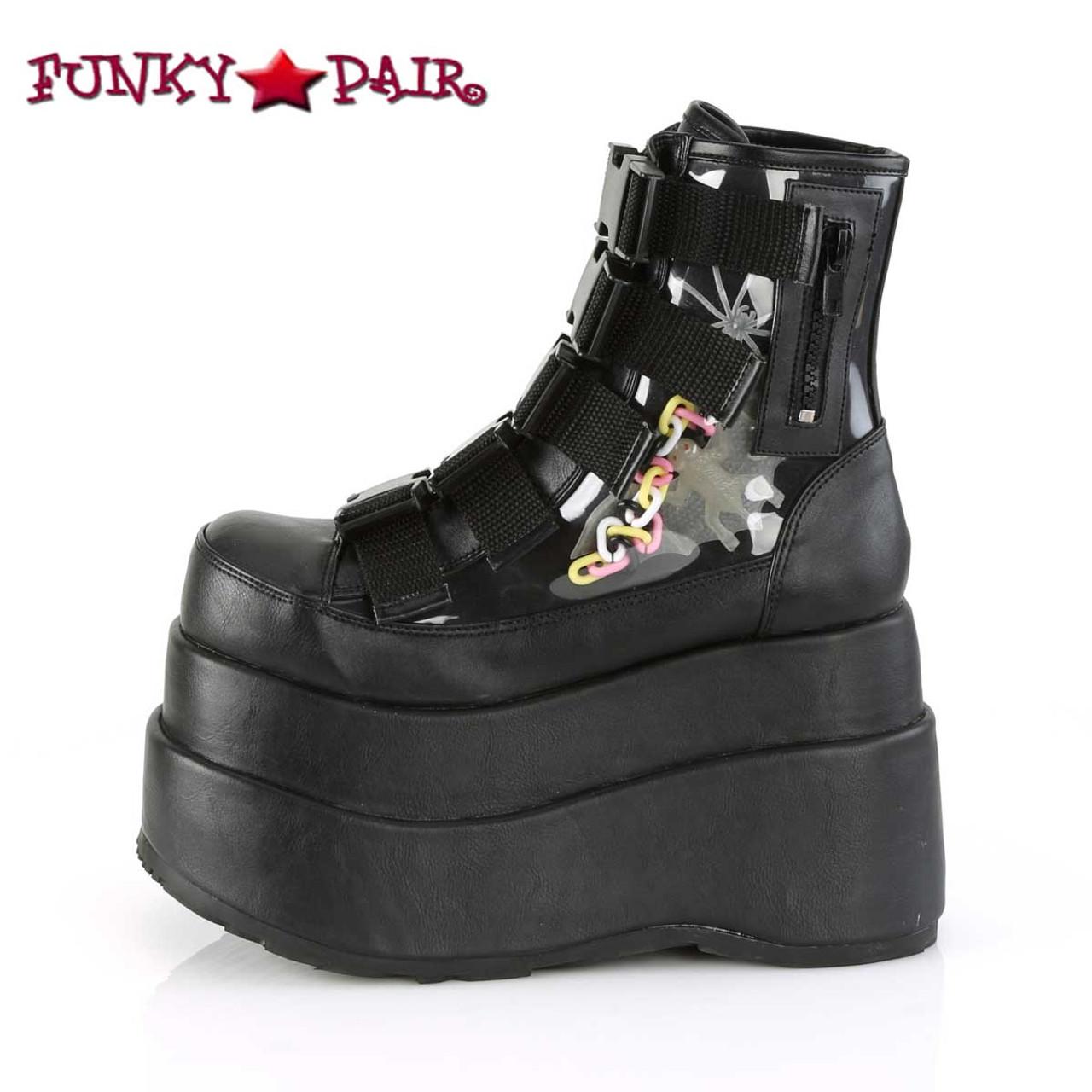 906aff53ae8 Demonia Bear-105, Spider Platform Ankle Boots