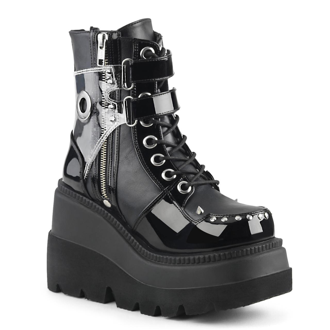 3b449e7141209 Demonia Shaker-57, Wedge Ankle Boots