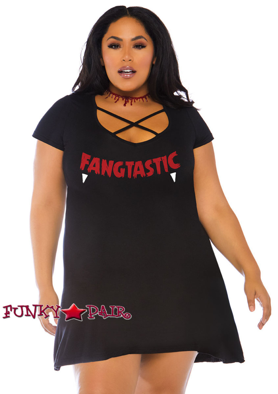 Plus Size Fangtastic Jersey Dress LA-86769X