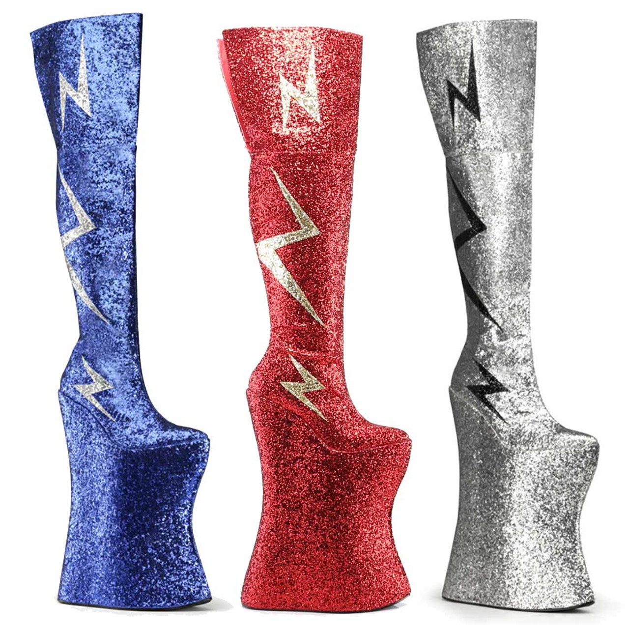 Devious VIVACIOUS-3016 Women/'s 13 1//2 Inch Heel 10 Inch Platform Thigh Boot