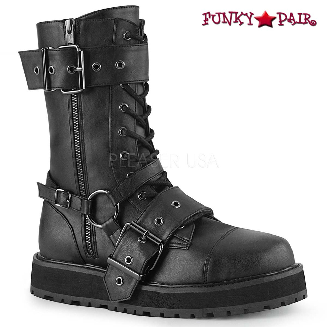 Men's DemoniaValor Boots Strap Harness 220 Punk 3A4j5RL