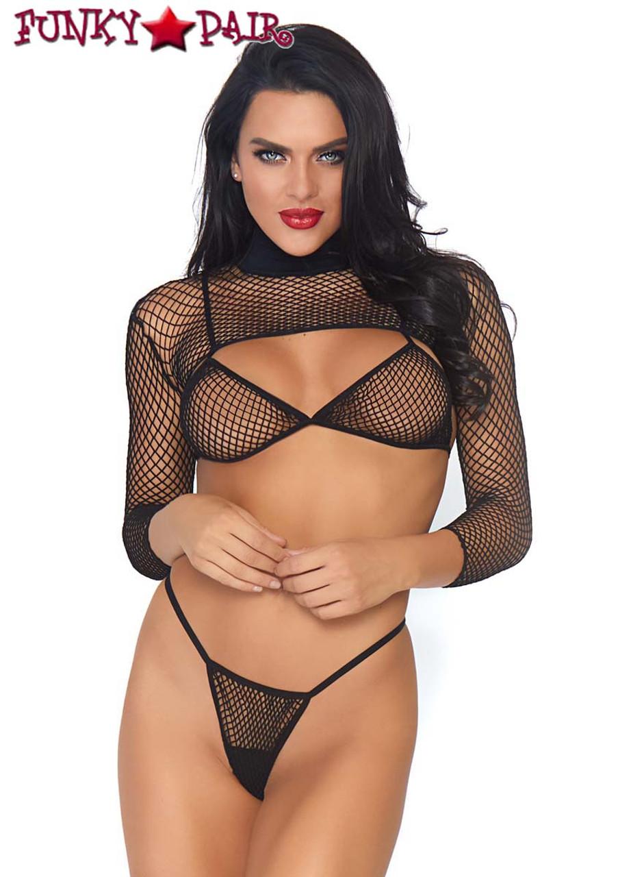 leg Avenue lingerie sexy Net crop top set résille fluo 8-12 clubbing rave