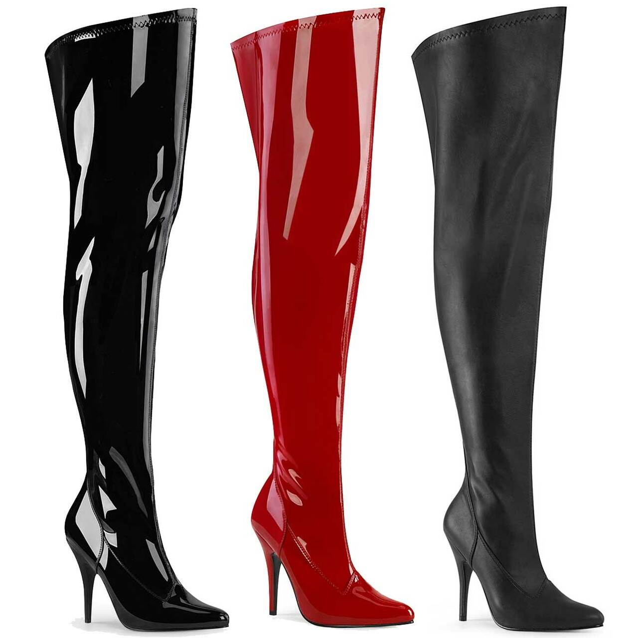 top quality new product nice shoes Seduce-3000WC, 5 Inch Wide Calf Stretch Thigh High Boot