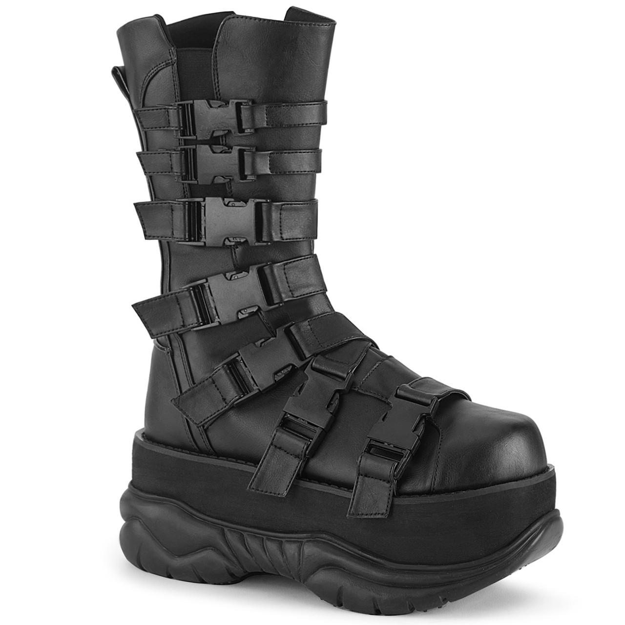 Demonia   Neptune 210 Men's Punk Boots with Multi Straps