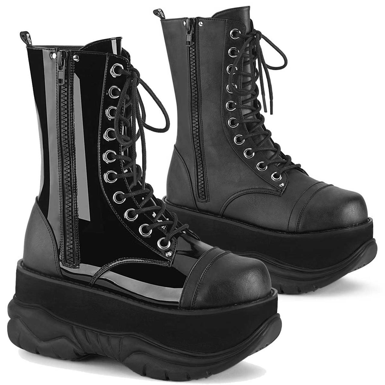 Demonia   Neptune 200 Men's Goth Platform Lace up Boots