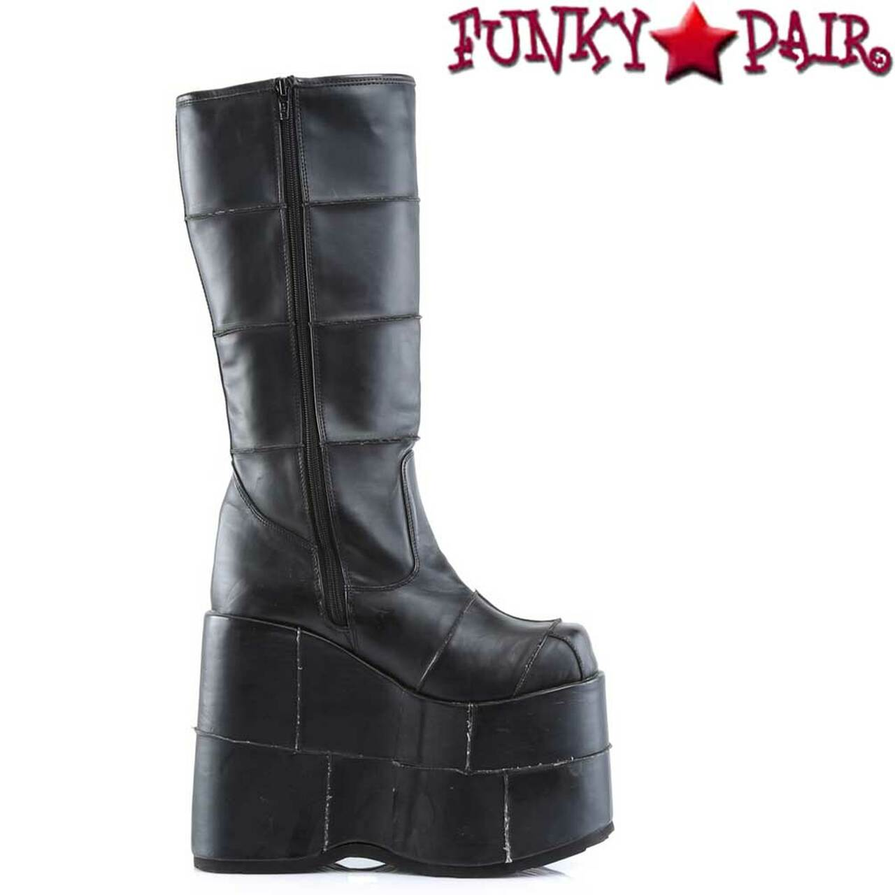Goth Cyber Gogo Platform Boots