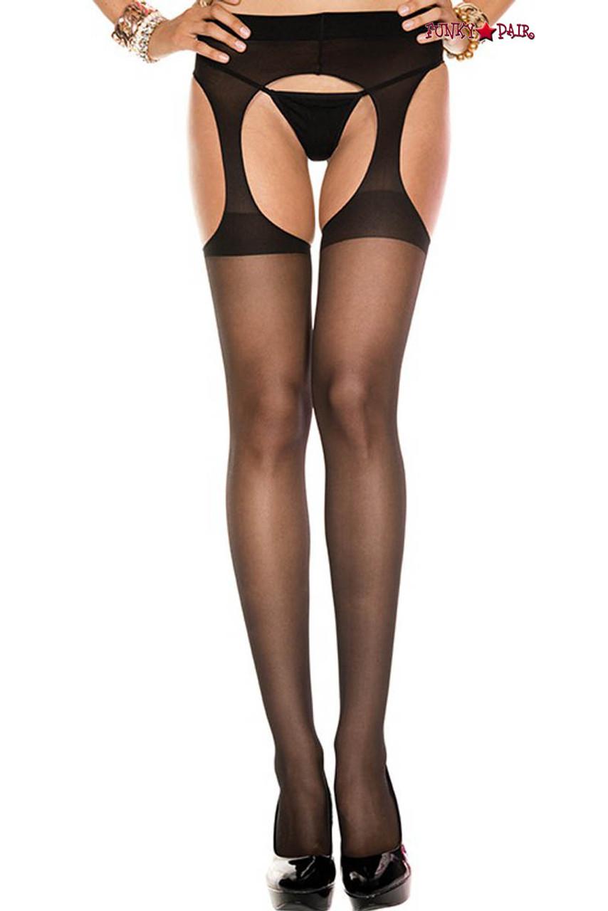 New Music Legs 903Q Plus Size Fishnet Suspender Pantyhose