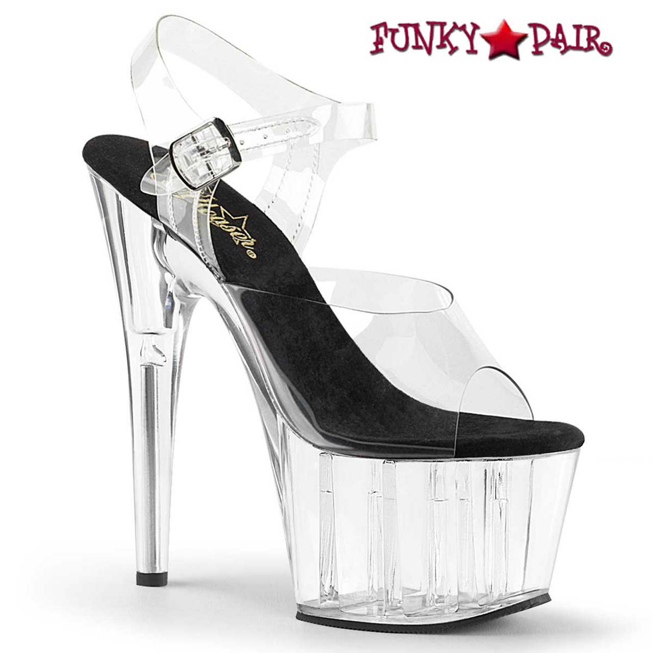 Red Chrome Stiletto High Heel Ankle Strap Stripper Dance Platform Women Shoes