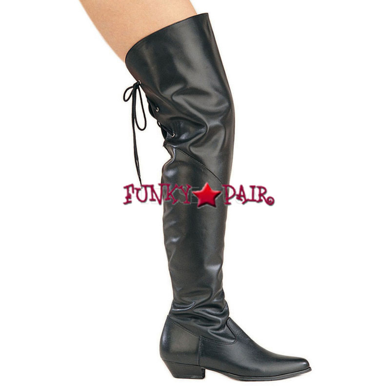 27a0c5734 Rodeo-8822, 1.5 Inch Thigh-high boots sz 6-16 Black Faux