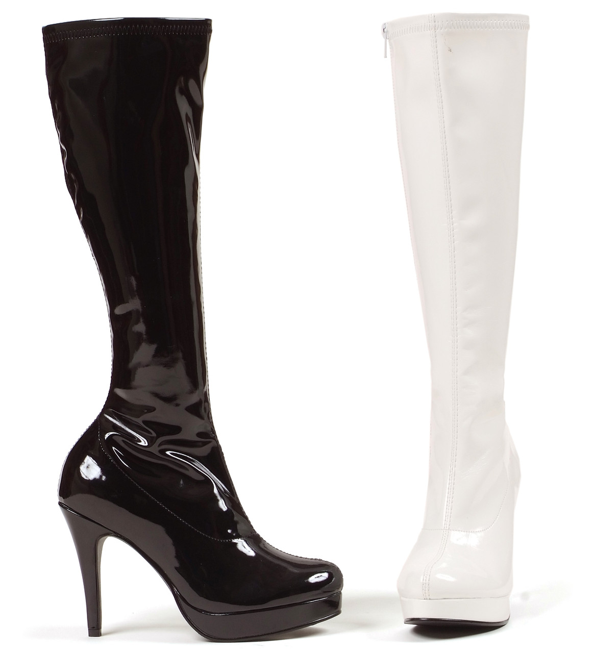 421-Groove 4 Inch GoGo Knee High Boots