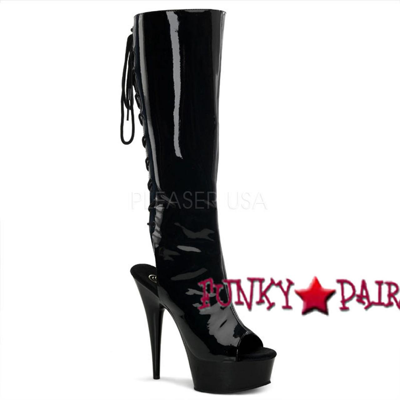 open toe heels lace up