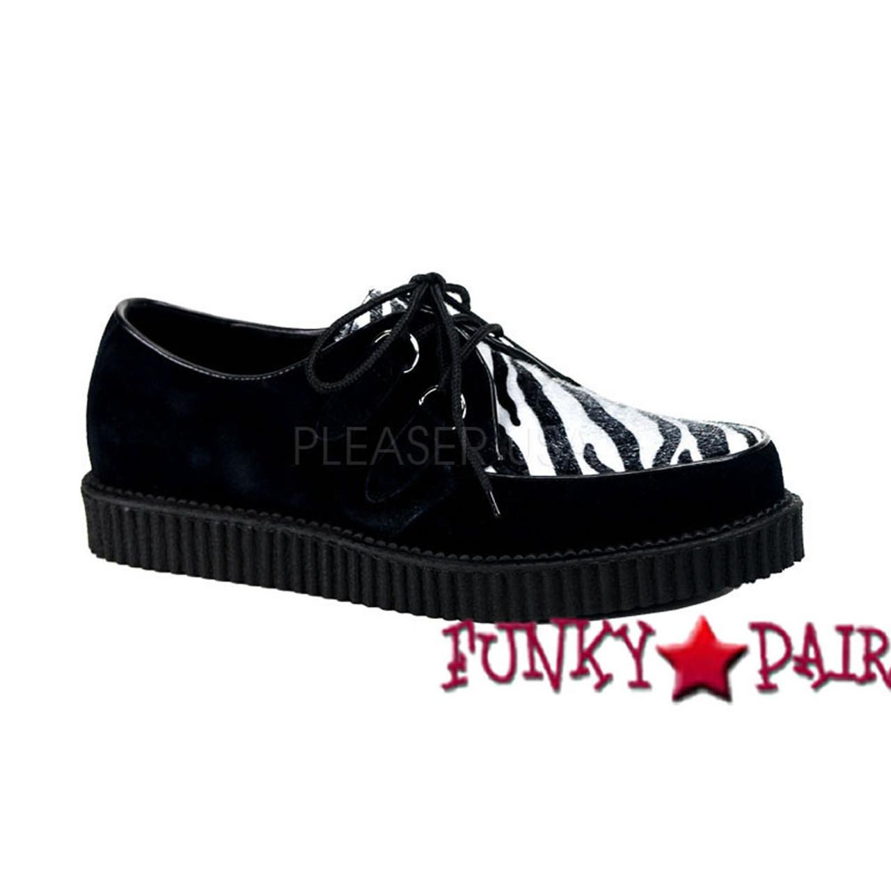 3ab6635fe9fd1 Demonia   Men Creeper-600, Animal Print Shoes