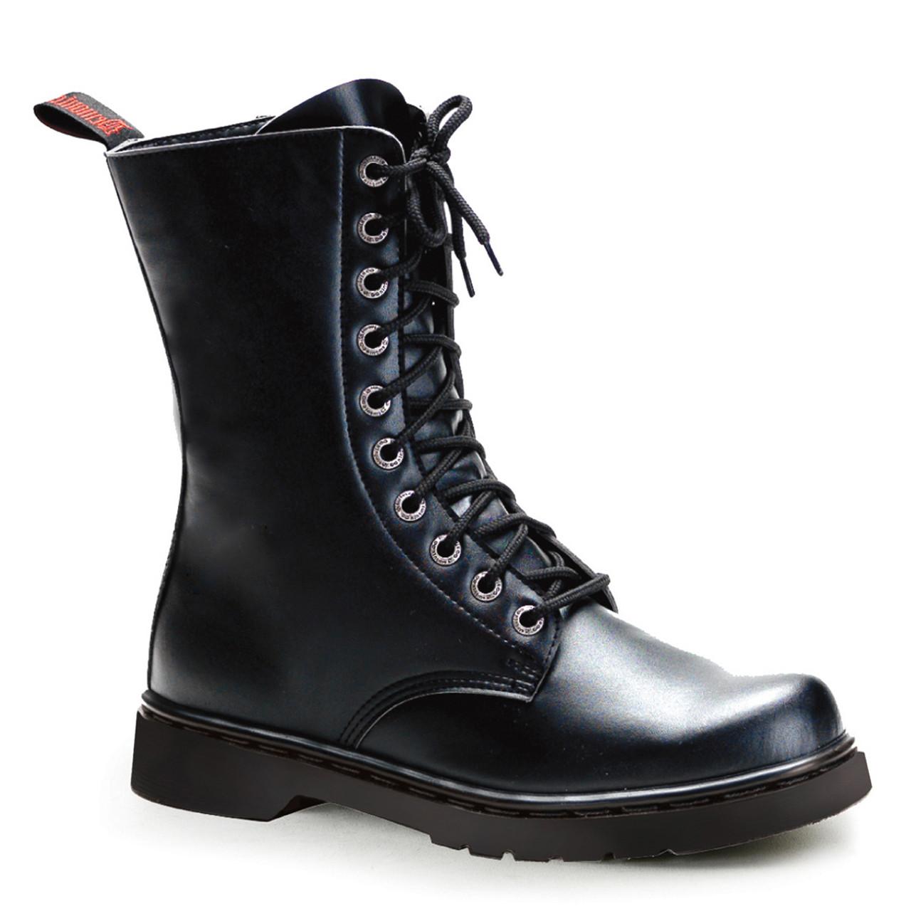 Goth Vegan Calf Combat Boots