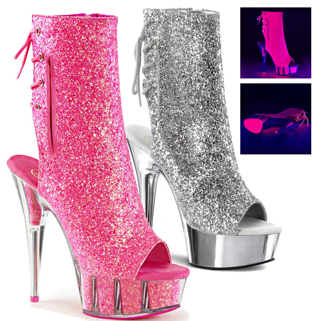 c00bb32b1f4a ... Open Toe and Back Ankle Boots · Delight-1018G