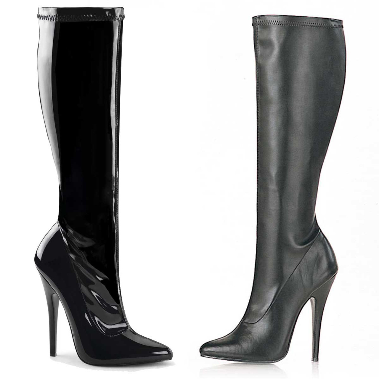 ef7ac83a92b Devious | Domina-2000 Stiletto Knee High Boots
