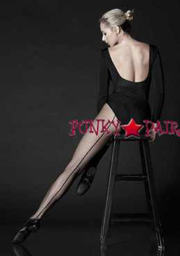 PD802, Professional Backseam Fishnet Tights
